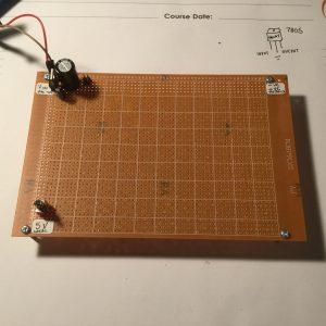 Start of a new computer, just a 7805 regulator.